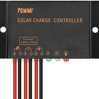 PowMr 10A 12V/24V Solar Charge Controller IP65 Waterproof